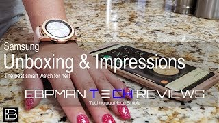 Samsung Galaxy Watch Rose Gold Unboxing and First Impressions