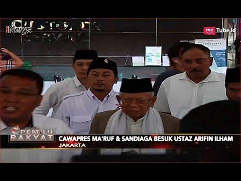 Ma'ruf Amin dan Sandiaga Uno Jenguk Ustaz Arifin Ilham di RSCM - Pemilu Rakyat 09/01 Mp3