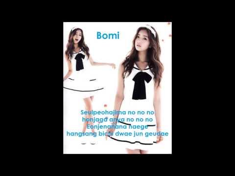 A Pink - NoNoNo lyrics  (with singing position)