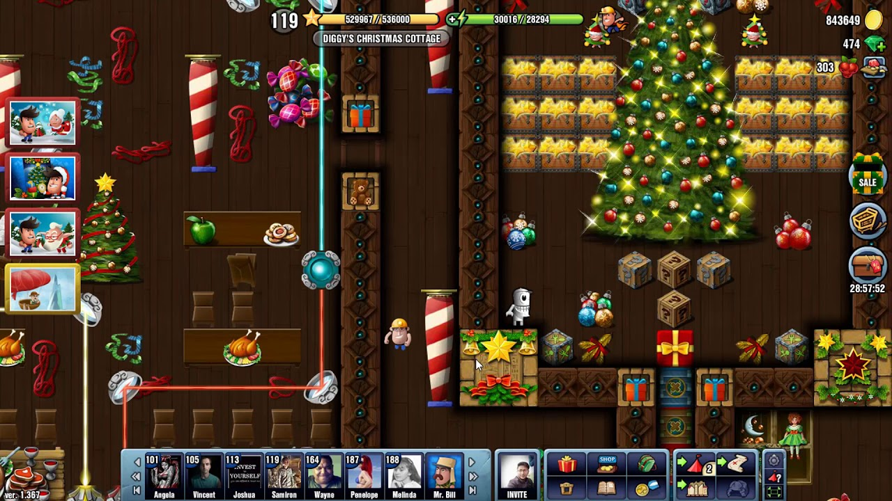 Diggys Christmas Cottage 2019 2021 Diggy S Christmas Cottage Diggy S Adventure Christmas 2017 Special Location Level Up 119 To 120 Youtube
