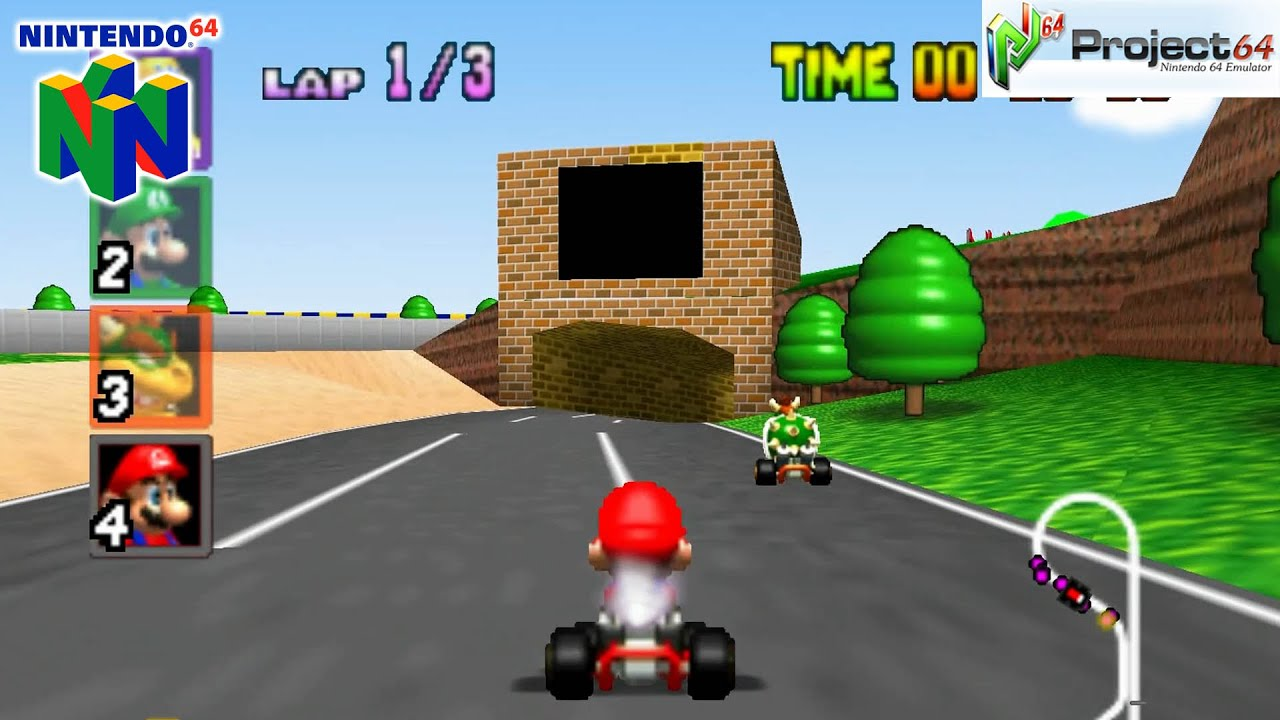 mario kart 64 gameplay nintendo 64 1080p project 64 youtube. Black Bedroom Furniture Sets. Home Design Ideas