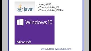 Java jdk1.8.0_101 in Windows 10