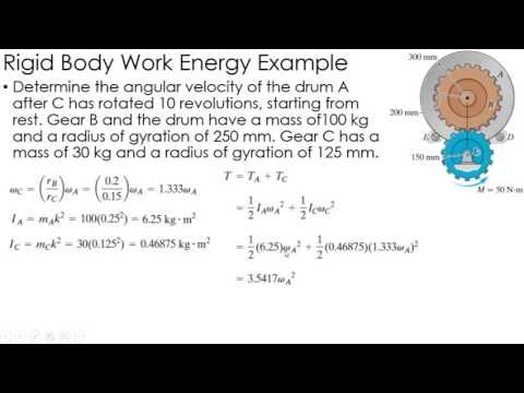 Dynamics Example: Work/Energy of Rigid Bodies