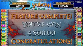 Vulcan Slot (RTG) - Freespins with 500x multipler - Ultra Big Win - 6000x Bet(The Vulcan Slot is a mega high variance slot from rtg with a freespin multipler up to 500x. Find all serious RTG Casinos here: ..., 2016-11-07T14:30:02.000Z)
