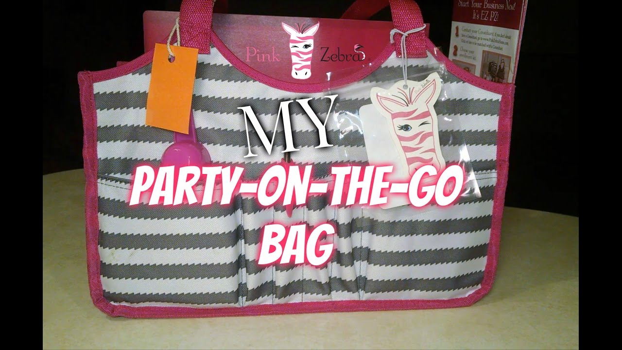 Pink Zebra Party On The Go Bag