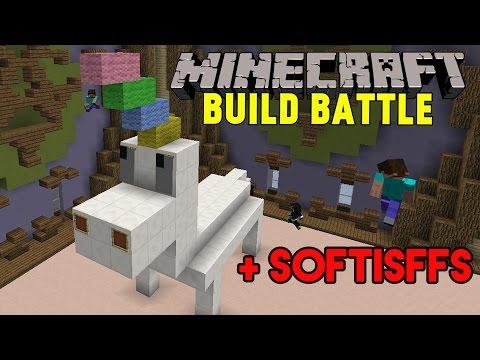 """Minecraft med SoftisFFS  """"HÄSTAR"""" & KRISTALLER   Build Battle Minigame på Svenska"""