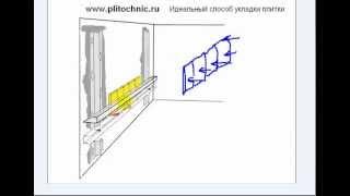 Учимся класть плитку на стены и полы простым и точным способом(Видео урок идеальной укладки плитки с первой попытки., 2012-12-23T15:56:14.000Z)