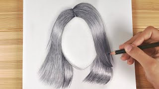 Pencil Drawing Hair Easy - How to draw girl hairstyles