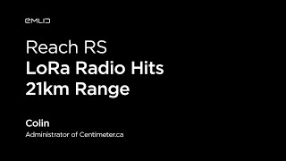 Reach RS LoRa Radio Hits 21km Range | Live from Intergeo 2018