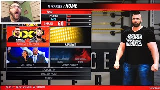 WWE 2K16 My Career GRIMS TOY SHOW Episode 1 FAT MAN FAIL RAGE PS4 Wrestling gameplay