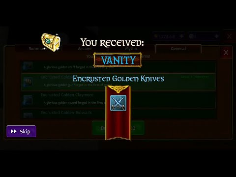 Arcane Legends - Sir Spendsalot - 2 Vanity Gun