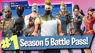 Fortnite Season 5 Battle Pass (Skins, Gliders + More!)