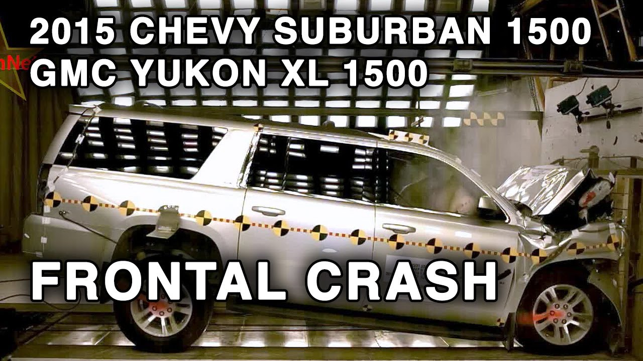 Gmc Yukon Xl Denali >> 2015 Chevy Suburban 1500 / GMC Yukon XL 1500 | Frontal Crash Test | CrashNet1 - YouTube