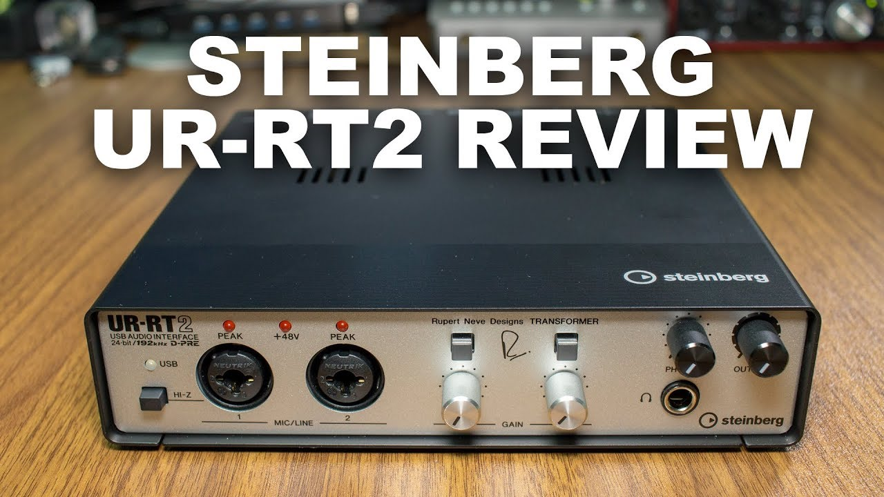 steinberg ur rt2 usb audio interface review test youtube. Black Bedroom Furniture Sets. Home Design Ideas