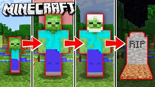 IF MOBS Could GROW OLD in Minecraft! (Realistic Mobs)