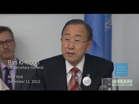 UN: Ban Ki-Moon Condemns Homophobia