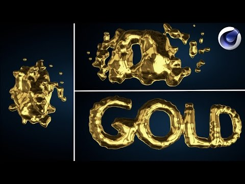 Cinema 4d Liquid Gold Text Intro Tutorial (Metaball)