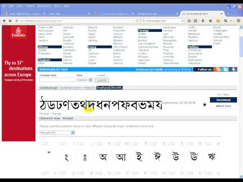 bangla fonts free  windows xp