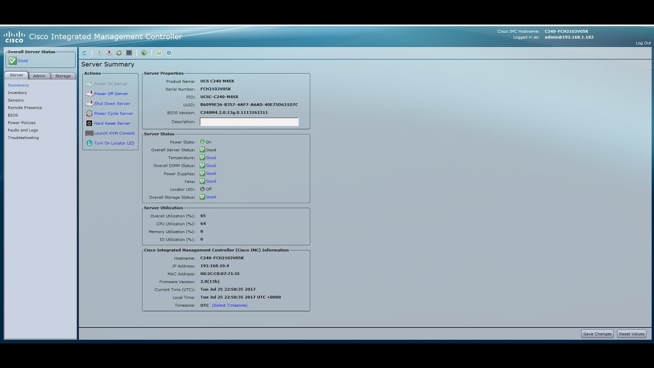 Basic Configuring Server UCS C series