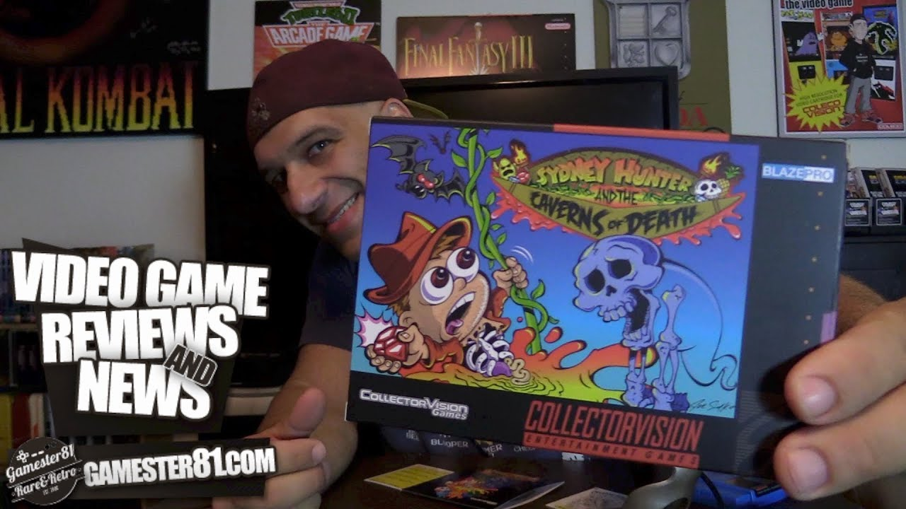 NES SNES GAME - Sydney Hunter and the Caverns of Death - Gamester81