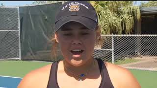 Flour Bluff star tennis player Femke Tjon-A-Joe will sign with West...