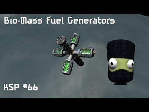 KSP #66 - Bio-Mass Fuel Generators, Fuel Depot & Cargo Dildo (Vall outpost)