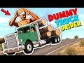 If Dummy was a TRUCK DRIVER - BeamNG Movie | GipsoCartoon