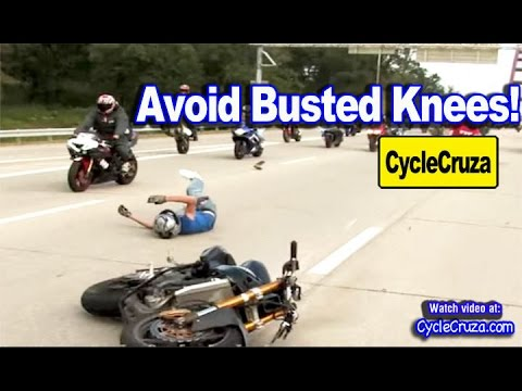 Avoid Busted Knees From Motorcycle Crash | MotoVlog