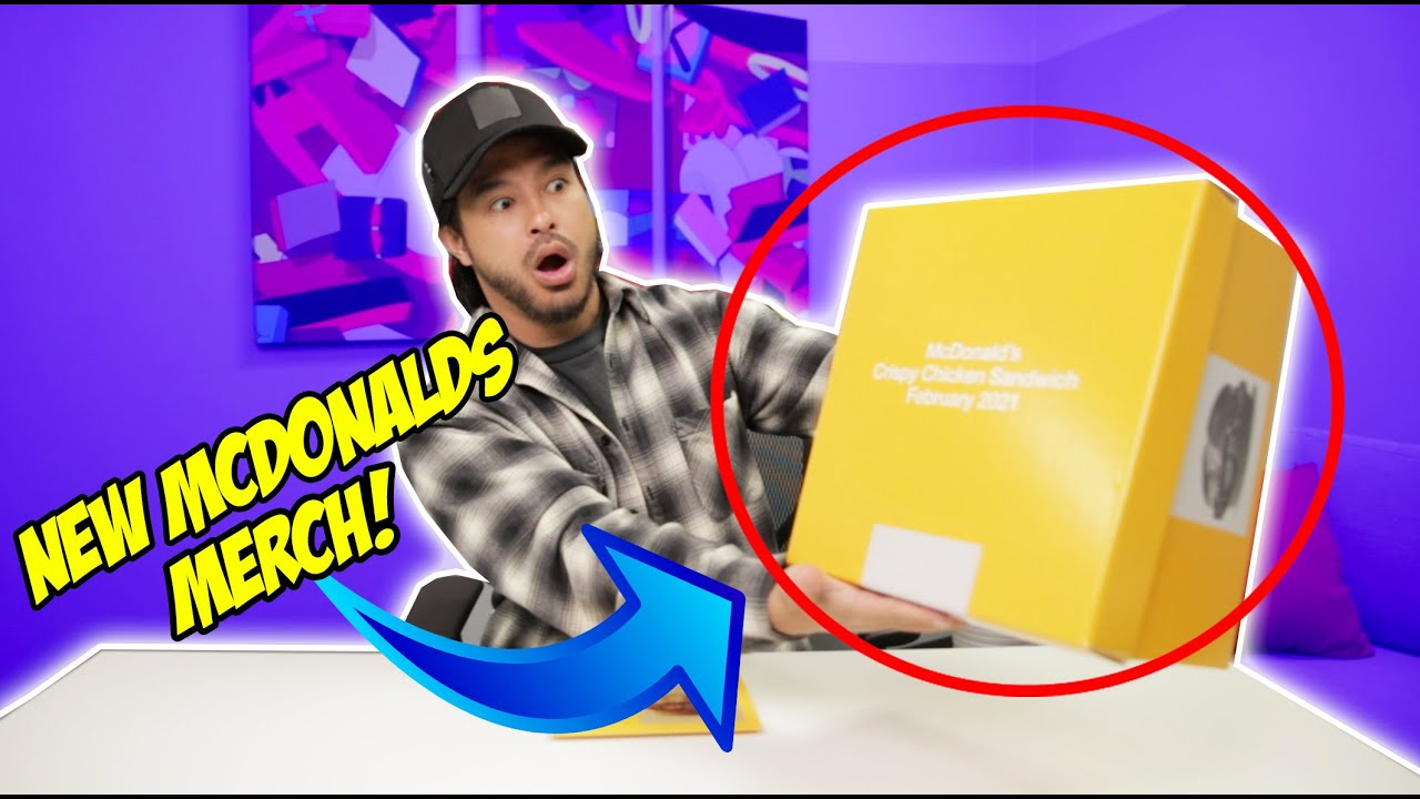 #ad Unboxing McDonald's exclusive merch + tasting their new crispy chicken sandwiches!