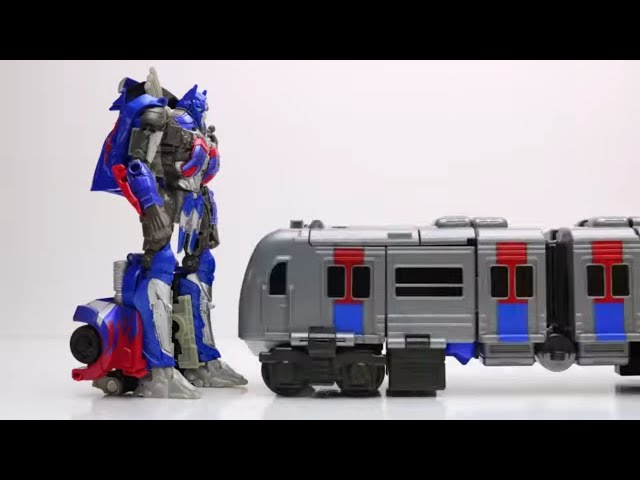 Tobot Train vs Optimus Prime Stop Motion Lego Transformers Animation Mainan Robot Car Toys Kids