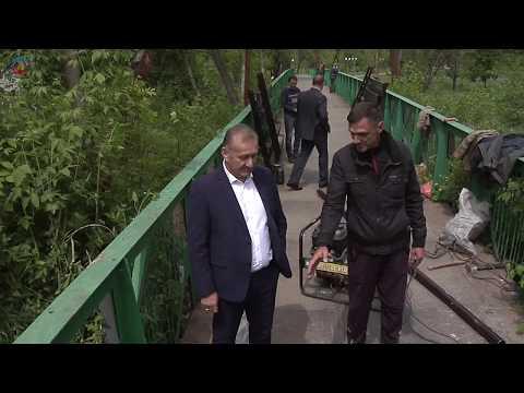 lgikvideo: реконструкция моста в парке Горького