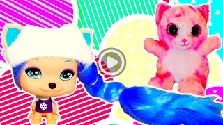 Игрушечный КОТЕНОК игрушечная СОБАКА распаковка ИГРУШЕК кошечка и щенок ИГРУШКИ для девочек собачка