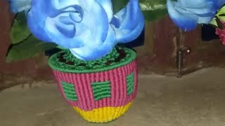 HOW TO MAKE //simple macrame handmade flower pot desing 2