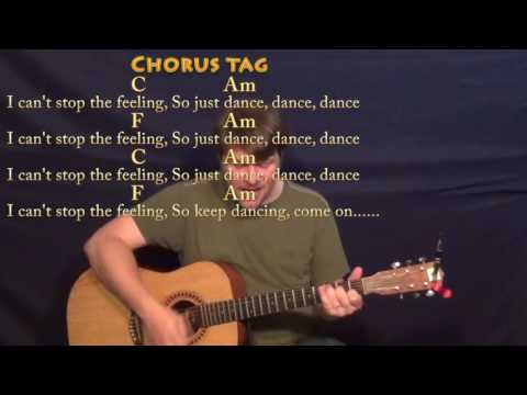 CAN'T STOP THE FEELING! (Justin Timberlake)Strum Guitar Cover Lesson with Chords/Lyrics