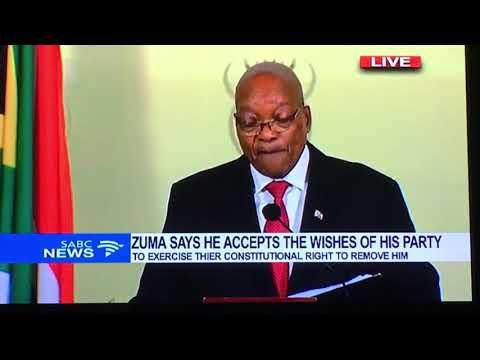 Official ZUMA RESIGNATION SPEECH 14th Feb 2018 SABC Coverage