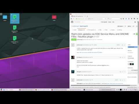 Update AppImage in KDE neon by right-clicking it - YouTube