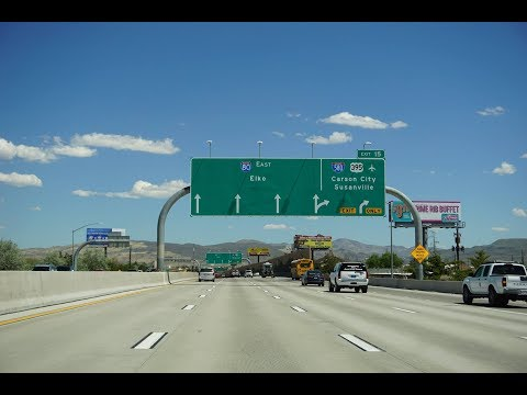 Interstate 80 East in Reno, Nevada