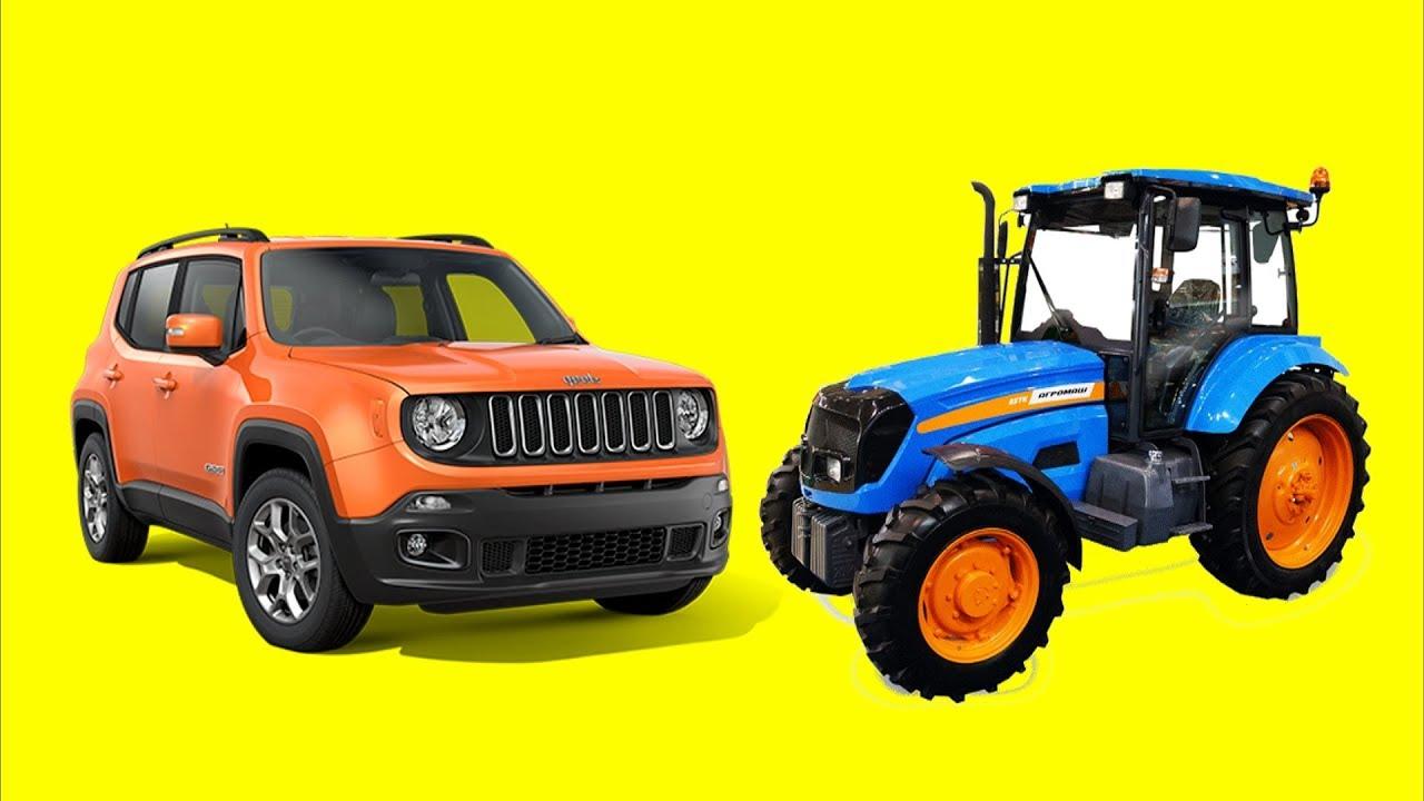 Игровой мультик - Перевозчик #Синий трактор и внедорожник ...