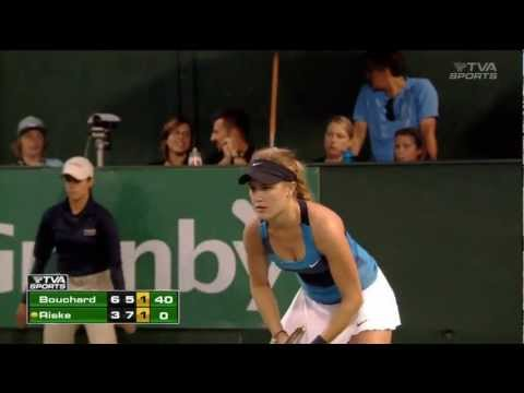 Eugenie Bouchard vs Alison Riske, Granby Challenger 2012