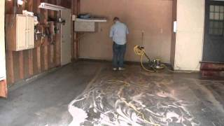 Painting a Garage Floor: Part 6 Vacuuming the Floor