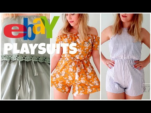 ccfde7eca6 EBAY PLAYSUITS TRY-ON HAUL ALL UNDER £10!