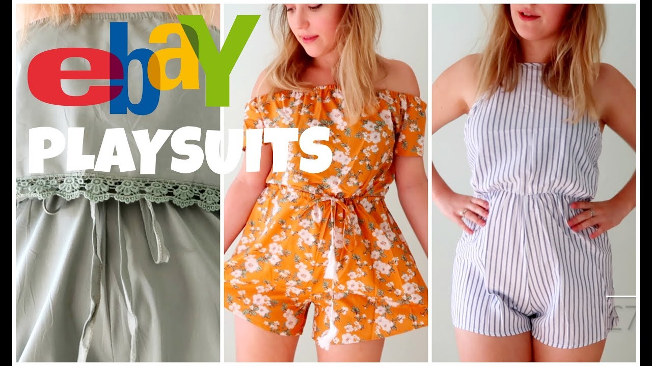 buy cheap utterly stylish new season EBAY PLAYSUITS TRY-ON HAUL ALL UNDER £10!