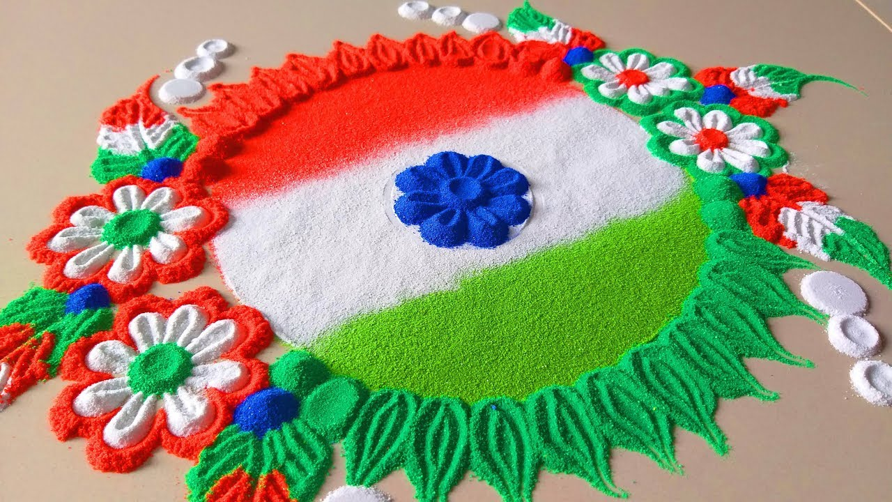 Independence day & Republic day rangoli design by Jyoti Raut ...