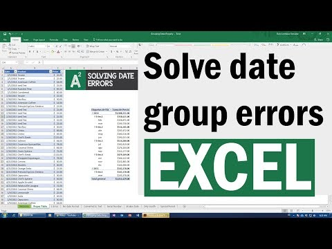 Dates not grouping in pivot tables in Excel - Fix those mistakes and more