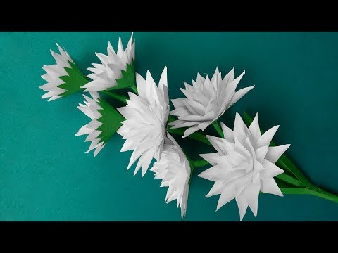 How to Make Flower - Very Easy and Simple Paper Flowers for Home Decor