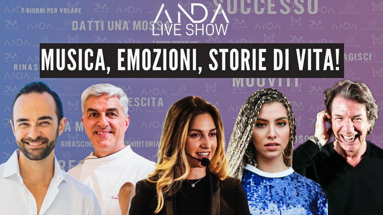 ANDA Live Show: Musica, Emozioni e Storie di vita! con Luisa Rey e Michele Pagano