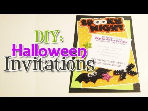 diy halloween invitation day 5 halloween week youtube