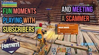 Fortnite Save The World With Subscribers I Met A Scammer! (Fun Moments and Thank You for the Gifts)