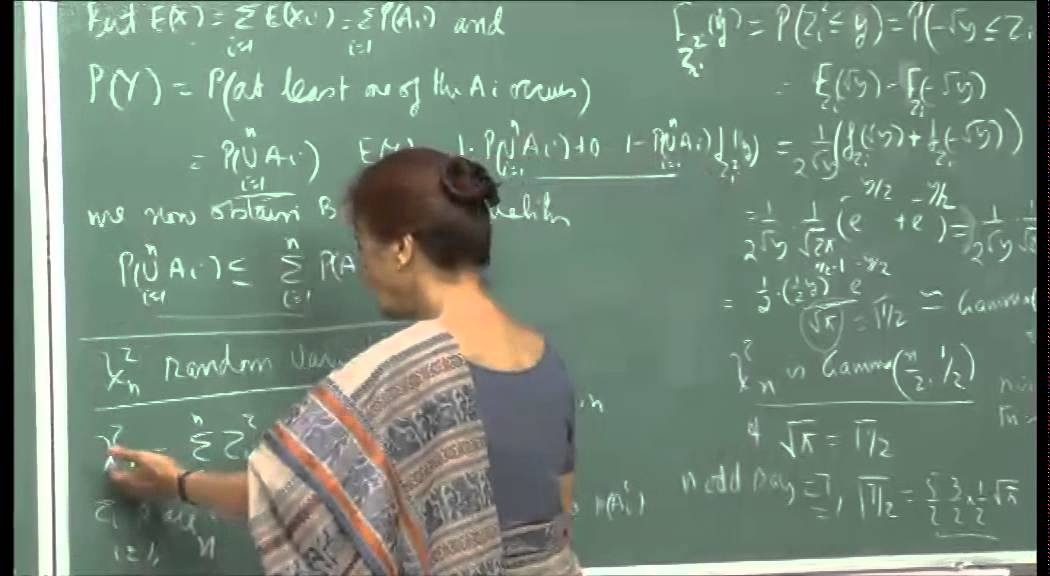 Mod-01 Lec-14 Chi – square r. v., sums of independent normal r. v., Conditional distr.