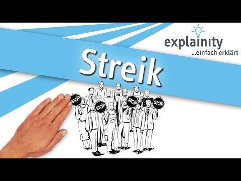 Streik einfach erklärt (explainity® Erklärvideo)
